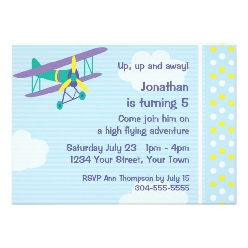 21 best airplane invitations for kids images on pinterest birthday customizable airplane birthday party invite filmwisefo