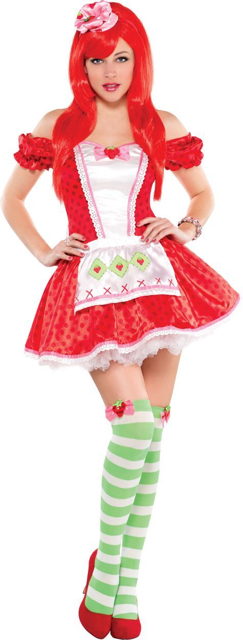 Strawberry Shortcake Costume. I've got a red dress and green pantyhose! And red heels that I can barely walk in..yeah!