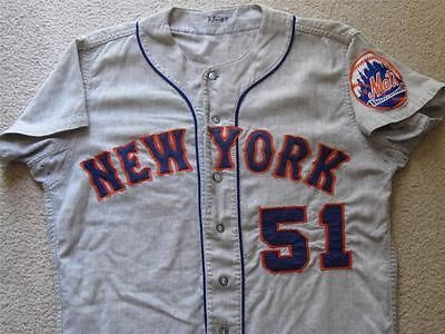 RARE! 1966 RON HUNT NEW YORK METS GAME WORN FLANNEL ROAD JERSEY MEARS