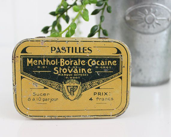 Rare Advertising Medical Cocaine Pellets Tin box by ohlalacamille