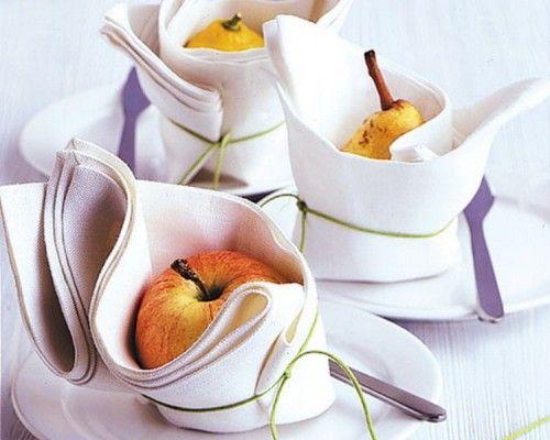 Almás asztaldekoráció