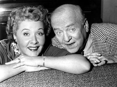 The lovable Mertzes, Ethel & Fred on the I Love Lucy were fabulous.  The pair  played by Vivian Vance and William Frawley. Their on screen chemistry was fantastic. Unfortunately off screen they couldn't stand each other...so sad.