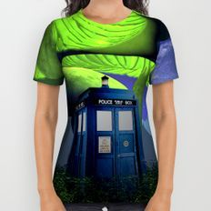 Tardis in the planet of alien All Over Print Shirt