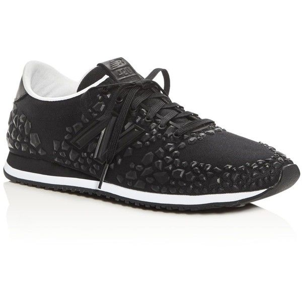 New Balance Women's 420 Re-Engineered Embossed Lace Up Sneakers ($105) ❤ liked on Polyvore featuring shoes, sneakers, black, new balance shoes, lace up shoes, laced up shoes, lace up sneakers and black lace up sneakers