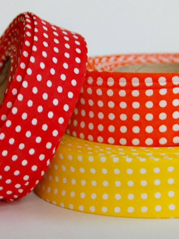 Bias tape with dots!!