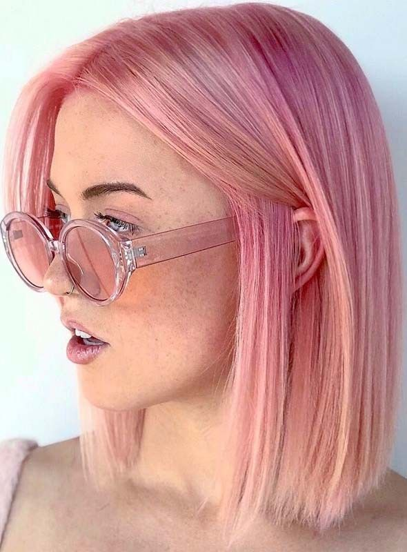Fantastic Pink Hair Color Ideas for Bob Cuts in 2018-2019