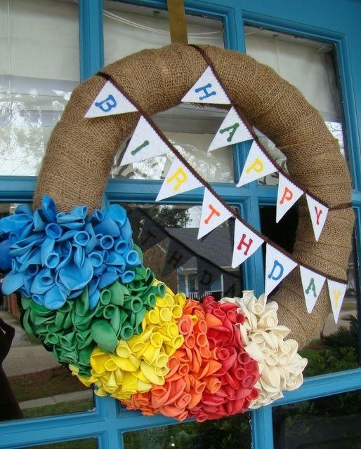 Birthday Door Wreaths   Birthday Wreath - hang on the front door during the week of each ...