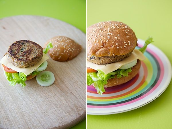 Healthy Veggie Soy Burger »  DivineTaste