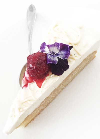 White Chocolate & Almond Parfait Cake