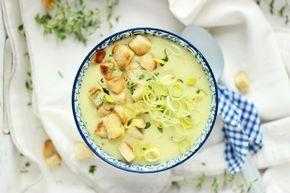 Zupa krem z pora i serka topionego z grzankami | Blog kulinarny Zakochane w Zupach.pl