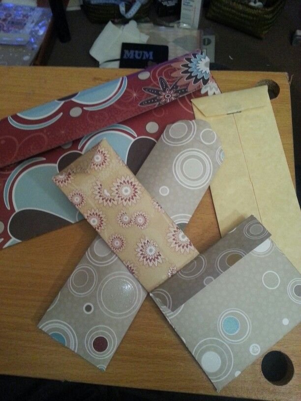 Envelopes of all shapes and sizes.  East to make at home for that added touch to an already perfect gift