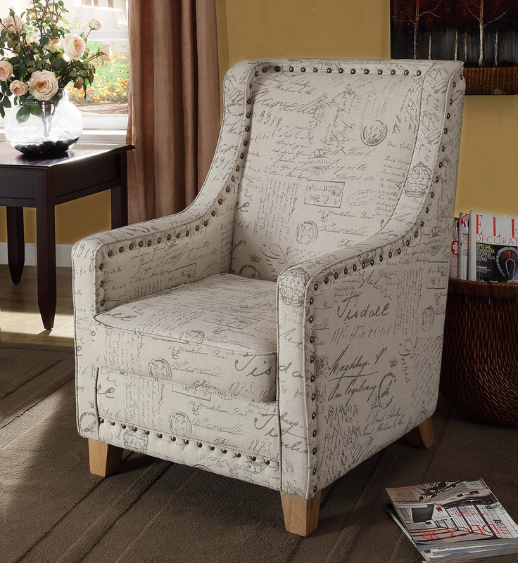 French Letter Address Print Fabric Chair Google Image Result For Http Unussondo