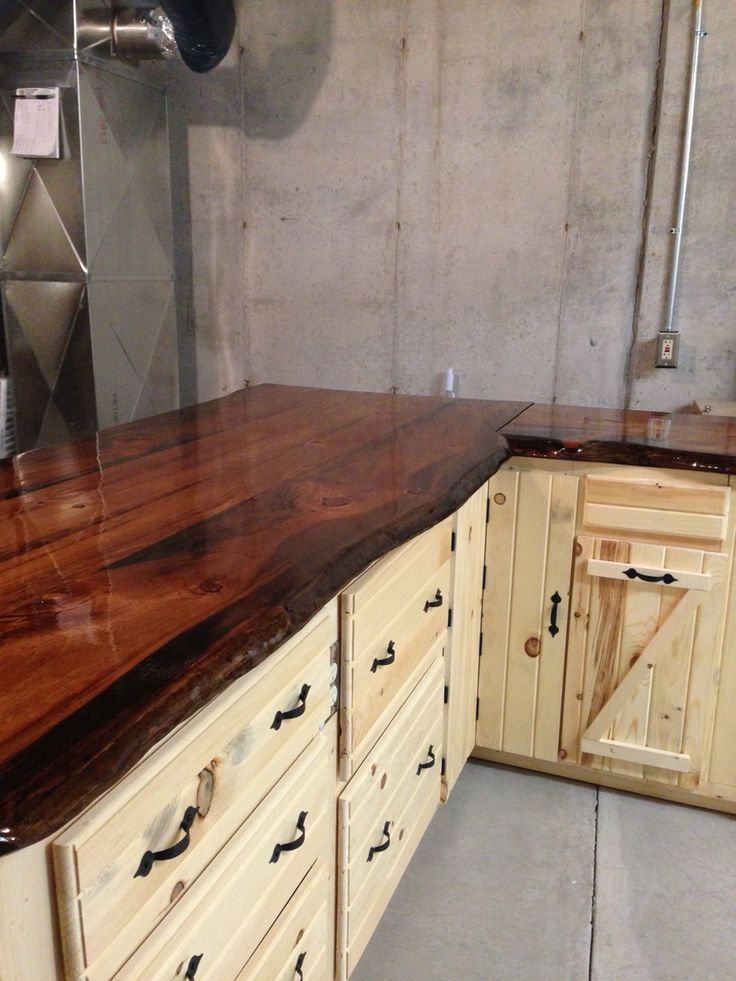 52 best images about log cabin ideas on pinterest stains for Live edge wood countertops