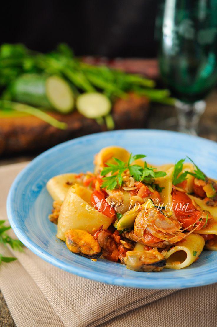 Calamarata ai frutti di mare primo piatto facile vickyart arte in cucina