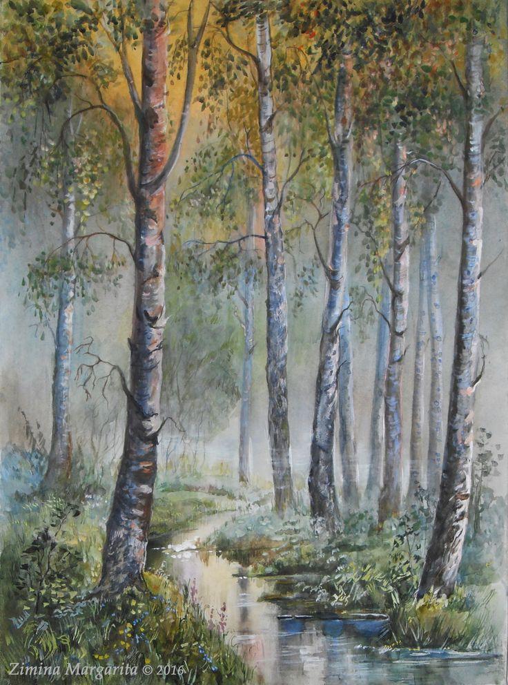 """Birch"" by Zimina Margarita. ""Березы"". Маргарита Зимина."