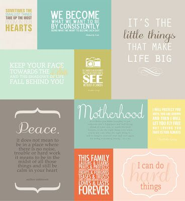 Mini album filled with favorite quotes + printables to get your own album started. #quotes #printables