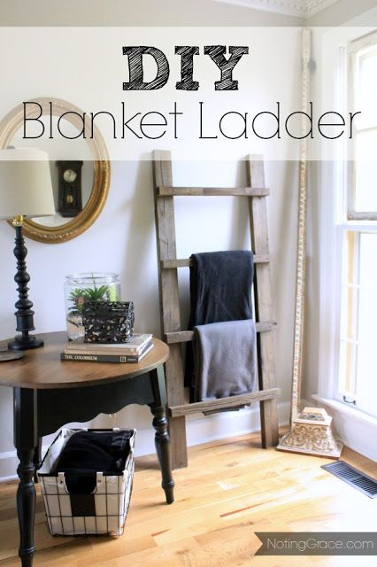 DIY Blanket Ladder: How to make your own for free using scrap wood and an hour!
