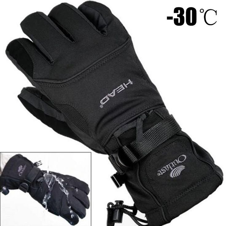 Men's Ski Gloves Fleece Snowboard Gloves 2017 Snowmobile Motorcycle Riding Winter Gloves Windproof Waterproof Unisex Snow Gloves. Click visit to buy this product
