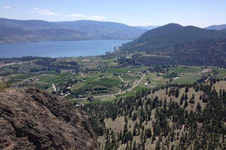 View  of Summerland from the top of Giant's Head 2017.