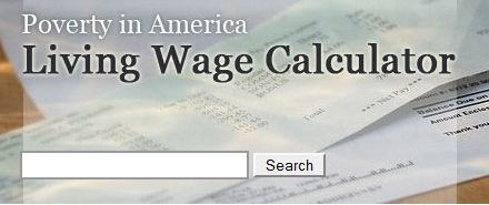 Ever wonder just how much money is enough to survive on? This calculator from MIT tells you how much you need to earn to be able to support yourself and your family without government assistance, based on typical expenses in your area.