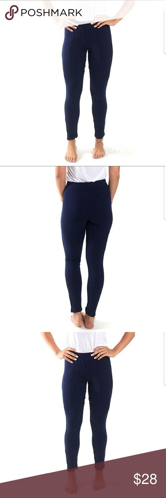 Navy streamline leggings Say goodbye to see through leggings with these thick leggings that give a flattering fit to any shape.  Thick waistband for control waist. Pants Leggings