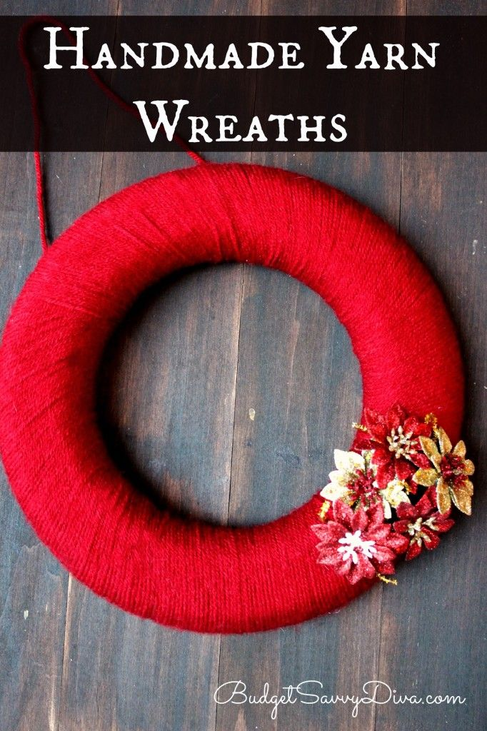 How To Make A Handmade Yarn Wreath