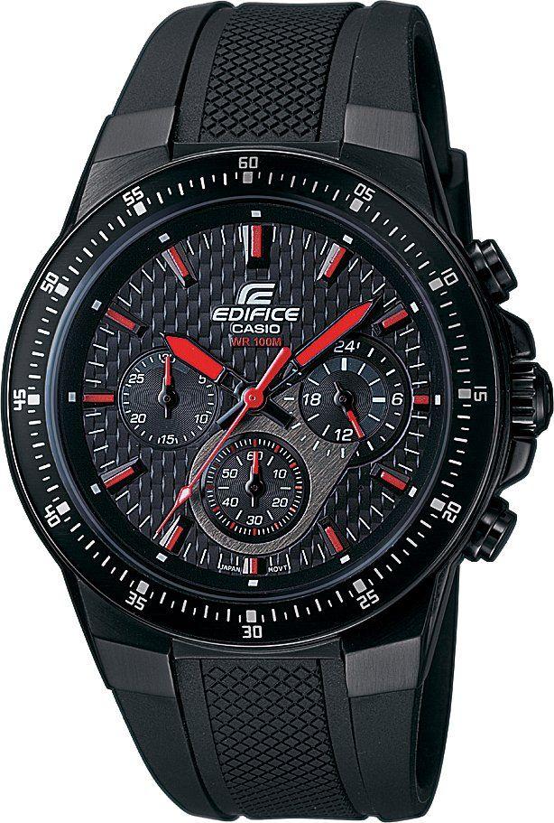 Casio Edifice EF 552PB-1A4 Sportovní analogové pánské hodinky Casio EF 552PB-1A4 s plastovým řemínkem a ocelovým pouzdrem s PVD povlakem z řady Edifice mají luminiscenční ručičky a indexy, stopky a 24 hodinový číselník.