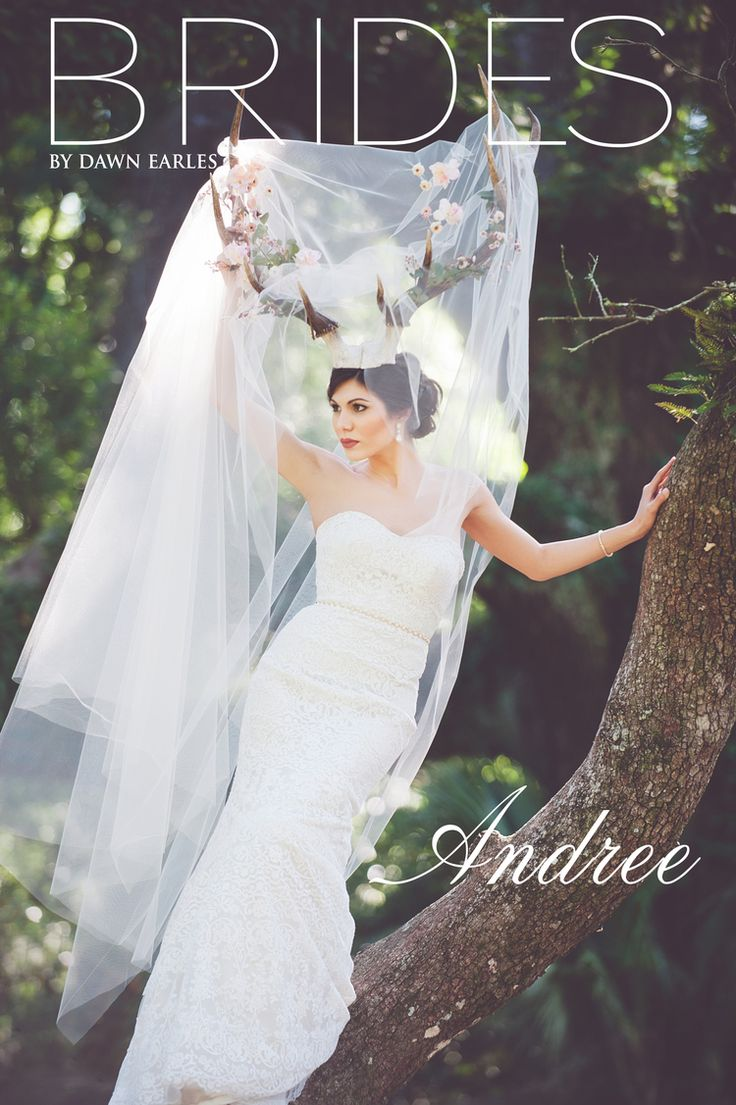 Louisiana Deer Map%0A Bridal Portraits shot with Deer Antlers in Oak Trees  Lace Wedding Dress   Dawn Earles