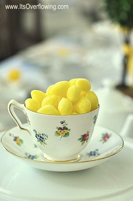 Lemon Party | Vintage China Ideas / lemon drops in tea cups
