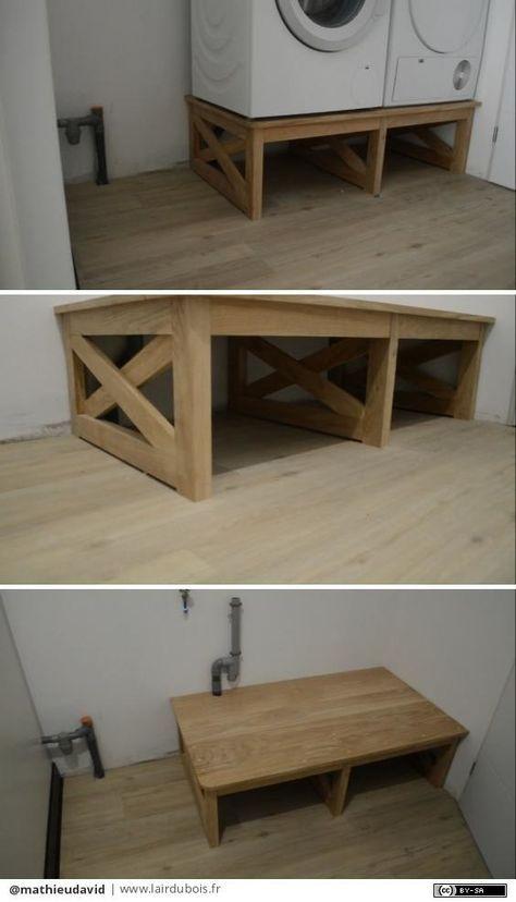 meuble machine laver et s che linge par mathieudavid. Black Bedroom Furniture Sets. Home Design Ideas
