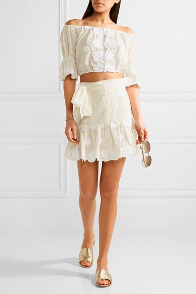 Cream cotton-voile Slips on 100% cotton Hand wash Designer color: Shell