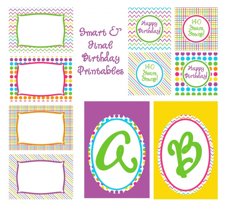 CUTE! Will have to use these for my sassy's b'day next month. Free b-day printables