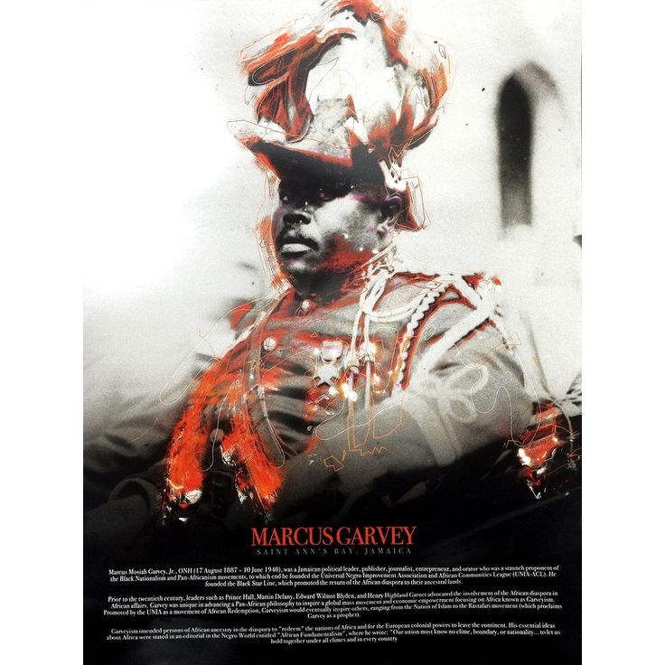 Marcus Garvey with Biography