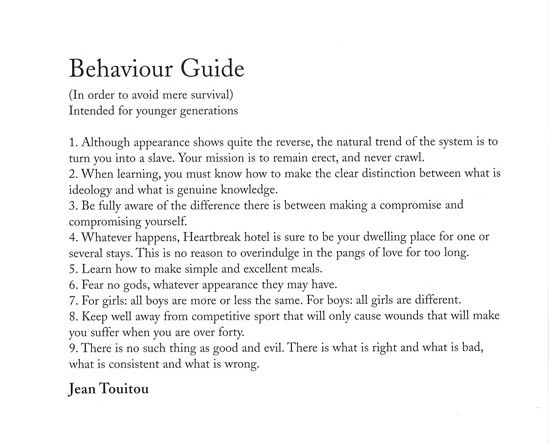 JEAN TOUITOU BEHAVOIR GUIDE