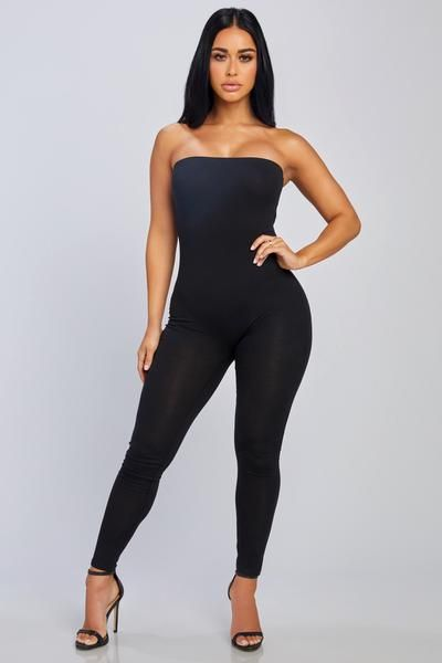 d0a5e522f4a Stay Right There Strapless Jumpsuit – HoneyBum