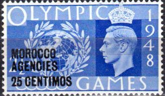 Morocco Agencies Spanish Currency 1948 Olympic Games Set Fine Used SG 178 81 Scott 527 30 Other Morocco Agencies Stamps HERE