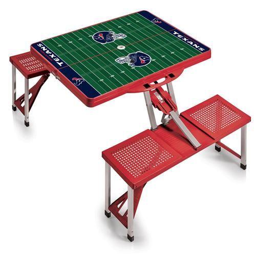 Houston Texans Portable Folding Tailgate Picnic Table