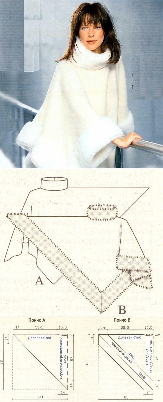 Molde poncho