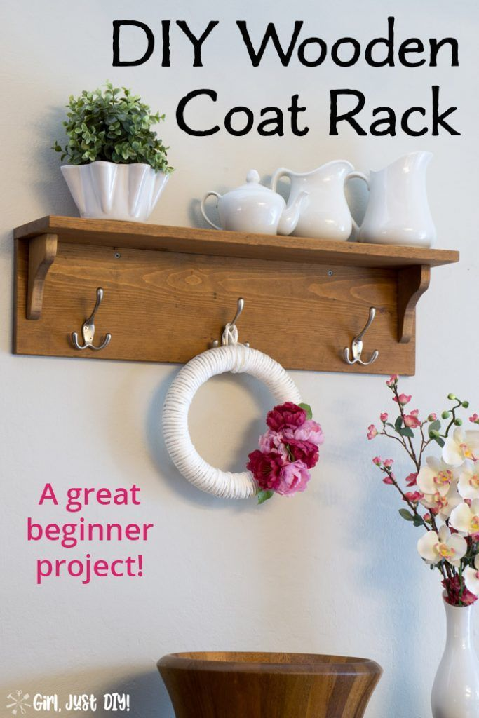 Diy Wooden Coat Rack A Great Beginner Project Wooden Diy