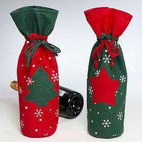 Cubre botella navidad