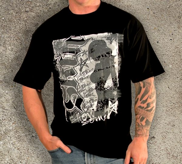 Men's Black Back Alley Tee SubCulture Clothing Store