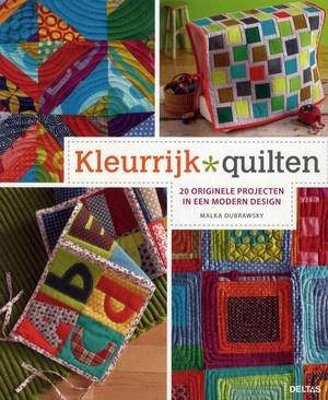 Informatie over materialen en benodigdheden voor quilten en patchwork, met werkbeschrijvingen en patronen voor enkele quilts en gebruiksvoorwerpen.