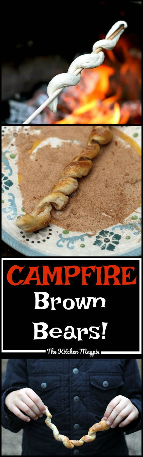 Campfire Brown Bears Recipe The Easiest Camping Food Ever Biscuits And Cinnamon Sugar Make For An Easy Delicious Fireside Treat