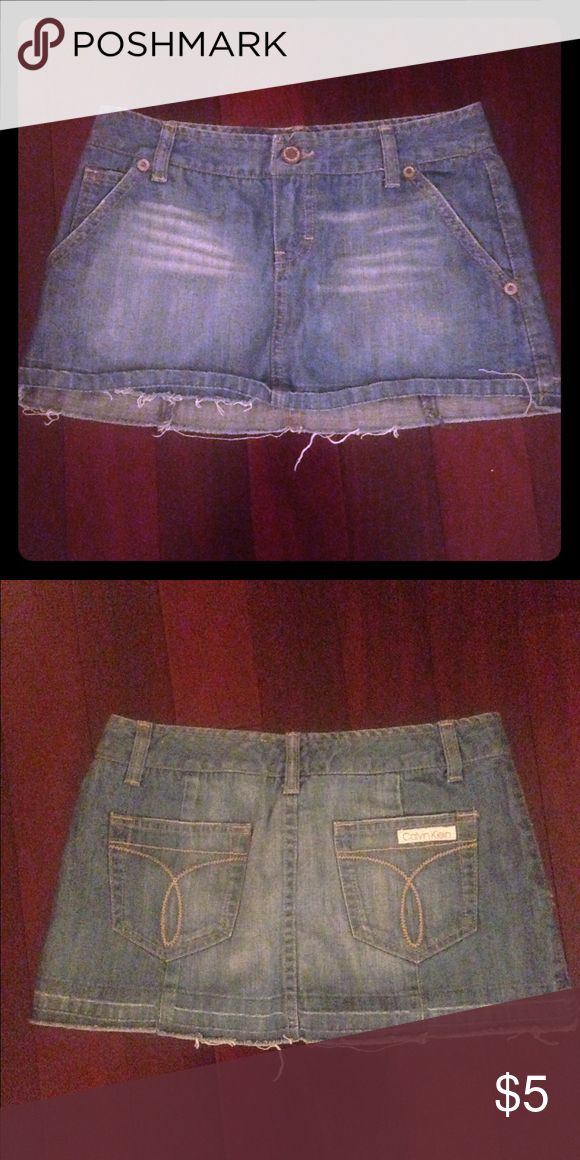 Calvin Klein Jean mini skirt Very Sexy mini from Calvin Klein Jeans size 25 great condition Calvin Klein Skirts Mini