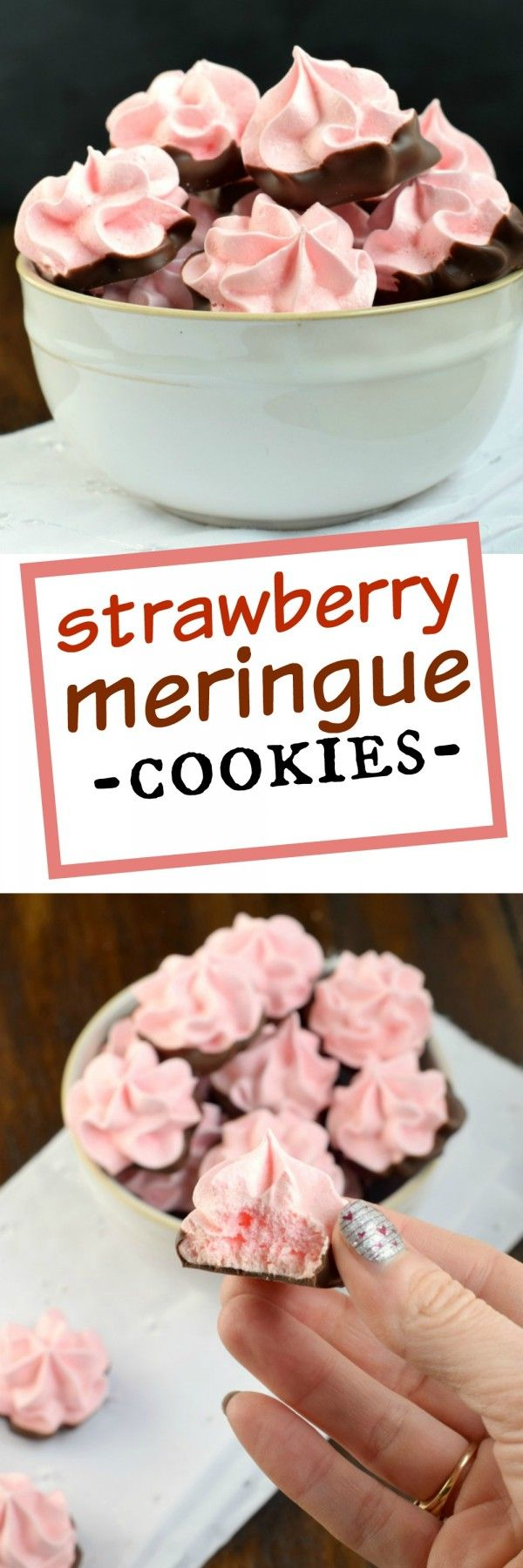 Strawberry Meringues - Shugary Sweets