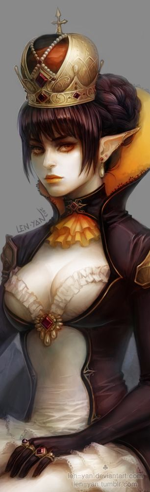 penguin queen - details by len-yan.deviantart.com on @deviantART