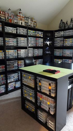 OMG - my dream Lego Room!  Maybe when one of the children move out . . . . Lego Room 2013 by Toki~, via Flickr #ad