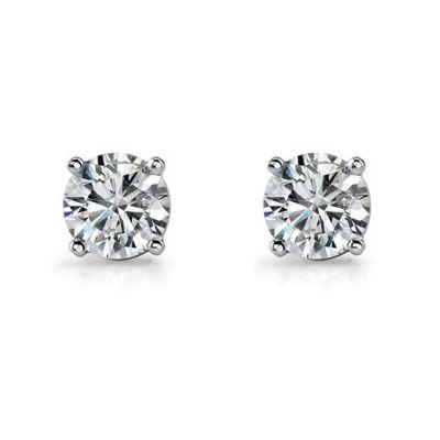 WHITE GOLD DIAMOND STUD EARRINGS, Temelli Jewellery