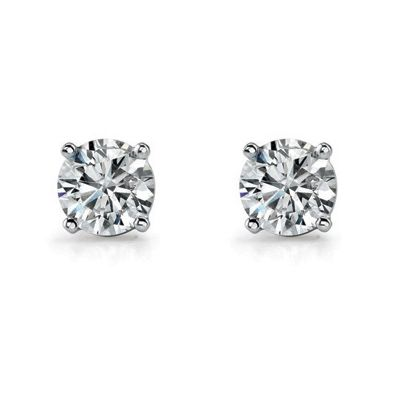 WHITE GOLD DIAMOND STUD EARRINGS, Temelli Jewellery
