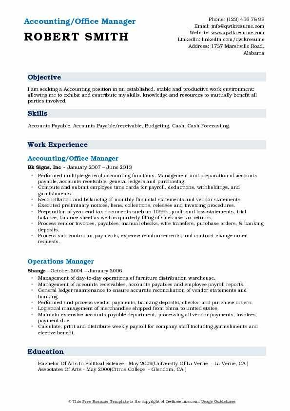 Office Manager Objective Missersd7 In 2020 Manager Resume Office Manager Resume Resume Template